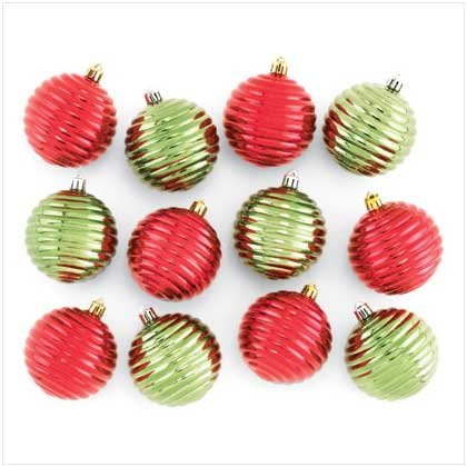 #37267 Red and Green Shiny Ornaments