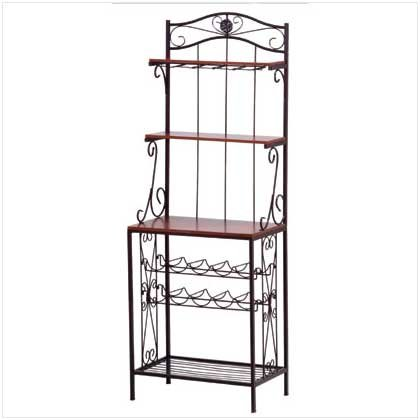 #34775 Baker's Style Wine and Glass Rack