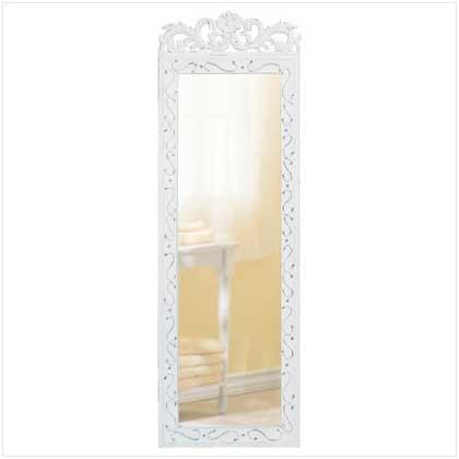 #33666 Elegant White Wall Mirror