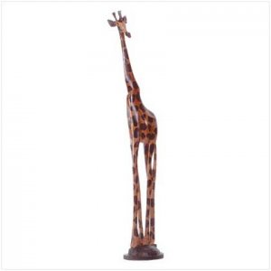 #31291 Hand-Painted Giraffe Sculpture