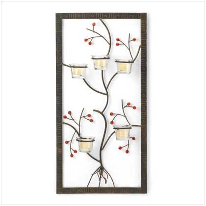 #37603 Five Candle Wall Adornment