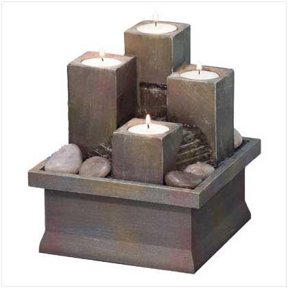 #36436 Tealight Pillar Water Fountain