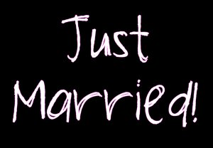 Just Married! (Pink Outline)