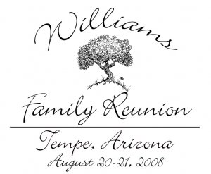 Personalized Family Reunion - Personalize for Your Event!