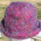 Felted Knit Hat Womens Ladies Juniors Purples Handmade by  Black and White Sheep Shop