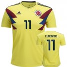 Colombia Home Cuadrado #11  Soccer Jersey World Cup 2018 Men's Shirt Yellow