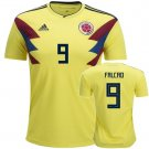 Colombia Home Soccer Falcao #9 Jersey World Cup 2018 Men's Shirt Yellow