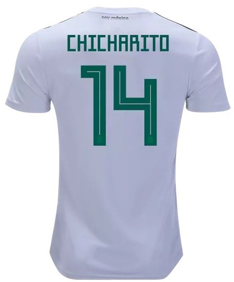Chicharito #14 Jersey World Cup 2018 Away Mexico National Team Soccer