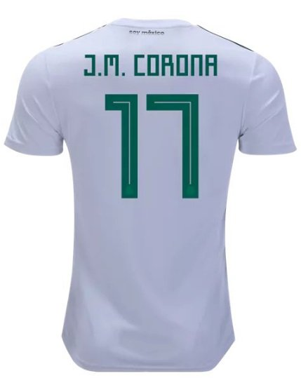 Jesus Manuel #17 Away Mexico Jersey World Cup 2018  National Team Soccer