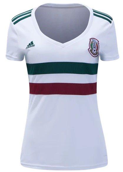 Custom Women Mexico Away jersey world cup 2018 shirt White