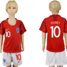 ROONEY #10 ENGLAND AWAY YOUTH Kids 2018 SET WORLD CUP SOCCER JERSEY