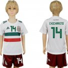 Mexico CHICHARITO #14 Away Youth Kids Set Jersey World Cup 2018