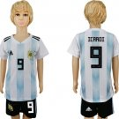 Icardi #9 Jersey World Cup 2018 Argentina Home Set Youth Kids Socce
