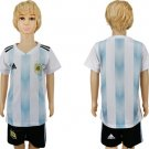 Custom Set Youth Kids Jersey World Cup 2018 Argentina Home  Socce