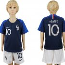 MBAPPE #10 Jersey Home France Set Youth Kids World Cup 2018 Socce