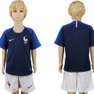 CUSTOM World Cup 2018 France Jersey Home Set Youth Kids