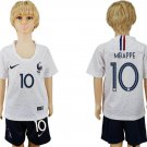MBAPPE #10 Away World Cup 2018 France Jersey Set Youth Kids