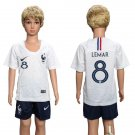 Youth Kids LEMAR #8 World Cup 2018 France Away short Jersey
