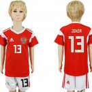 JIKIA #13 RUSSIA World Cup 2018  Jersey Home  Youth Kids short