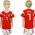 Youth Kids POLOZ #7 Jersey RUSSIA Home World Cup 2018 short