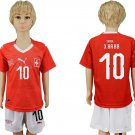 Switzerland  X. HAHA #10 Jersey Home World Cup 2018 Youth Kids Set