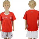 Custom Switzerland Jersey Home World Cup 2018 Youth Kids Set