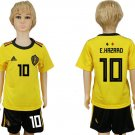 E.HAZARD #10 Youth Kids Jersey World Cup 2018 BELGIUM Away Set