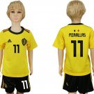 Jersey World Cup MIRALLAS #11 BELGIUM Youth Kids 2018 Away Set