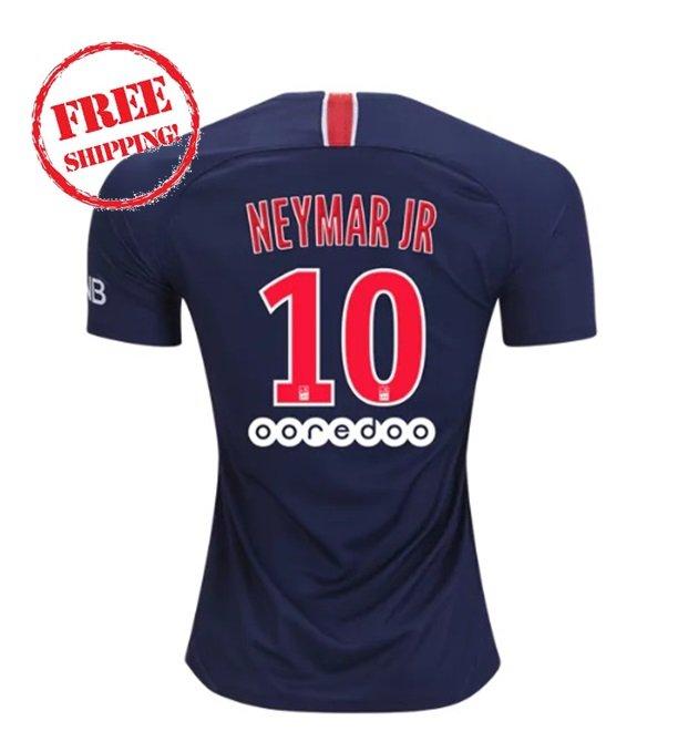 PSG Neymar Jr #10 2018/2019 Home Football Soccer Jersey Men Shirt Blue