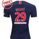 PSG 2018/2019 MBAPPE #29 Home Football Soccer Jersey Men Shirt Blue
