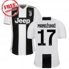 Juventus FC Mandzukic #17 Men 2018/2019 Home Football Soccer Jersey Shirt White/black