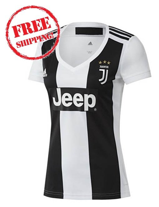 Custom Juventus FC Women 2018/19 Home Football Soccer Jersey Shirt White/black