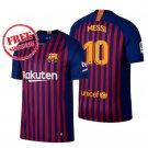 New Jersey 2018/2019 Messi #10 Barcelona Men Home Football Soccer Shirt Blue