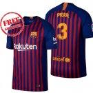 Pique #3 Jersey Home 2018/19 Barcelona New Men Football Soccer Shirt Blue