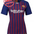18/19 Custom Women New Jersey Home Barcelona Football Soccer Shirt Blue