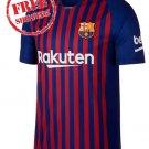 Custom Jersey 18/19 Men Home Barcelona Football Soccer Shirt Blue