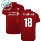 Alberto M #18 Liverpool Jersey 18/19 Men Home Football Soccer Shirt Red