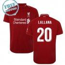 Liverpool Jersey 2018/19 LALLANA #20 Men Home Football Soccer Shirt Red