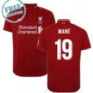 Liverpool Jersey 2018/19 MANE #19 Men Home Football Soccer Shirt Red
