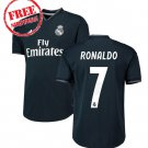 Real Madrid Jersey Away Ronaldo #7 Men Football Soccer Shirt Black 2018/19