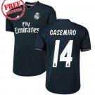 2018/19 Casemiro #14 Jersey Away Real Madrid Men Football Soccer Shirt Black