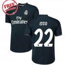 2018/19 Isco #22 Jersey Away Real Madrid Men Football Soccer Shirt Black