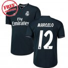 Real Madrid Men Football  Away Soccer 2018/19 Marcelo #12 Jersey Shirt Black