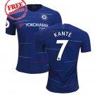 Kante #7 Football Home Chelsea Jersey 2018/19 Men Soccer  Shirt Blue