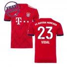 Vidal #23 Football Home Soccer Bayern Munich 2018 2019 Jersey Men Shirt red