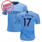 2018 2019 De Bruyne #17 Manchester City 2018 2019 Football Home Soccer Jersey Men Shirt Blue