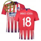 Jersey Atletico Madrid 2018 2019 Diego Costa #18 Football Home Soccer Men Shirt Red