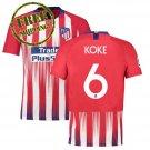Koke #2 Football Home Jersey Atletico Madrid 2018 2019 Soccer Men Shirt Red
