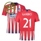 Jersey 2018 2019 Gameiro #21 Atletico Madrid Football Home Soccer Men Shirt Red