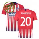 Atletico Madrid Jersey 2018 2019 Juanfran #20 Football Home Soccer Men Shirt Red